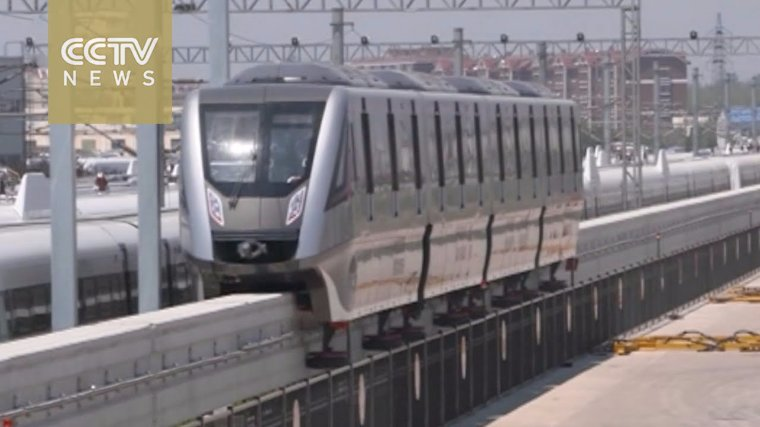 Поезд на магнитной подушке от китайских разработчиков разогнался до рекордной скорости