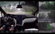 Tesla опубликовала видео работы своего автопилота