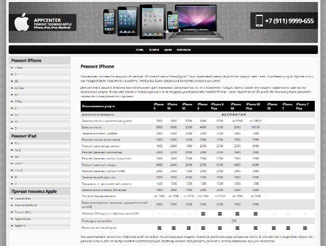 Ремонт iPhone в Питере: быстро,  с оригинальными деталями и с гарантией