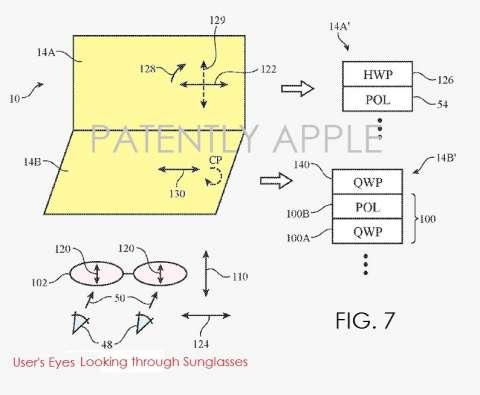 Apple патентует дисплей MacBook для работы на улице