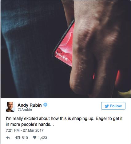 ВАУ! Создатель Android «спойлернул» нормальный безрамочный смартфон
