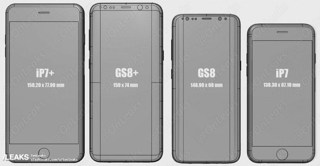 Оцените, насколько экран в новом Samsung больше, чем у старого iPhone