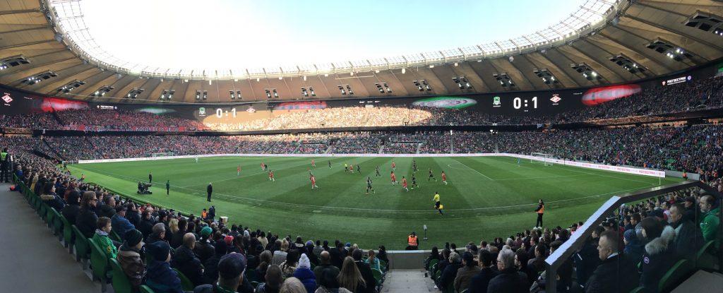 Почему нужно смотреть футбол на стадионе?