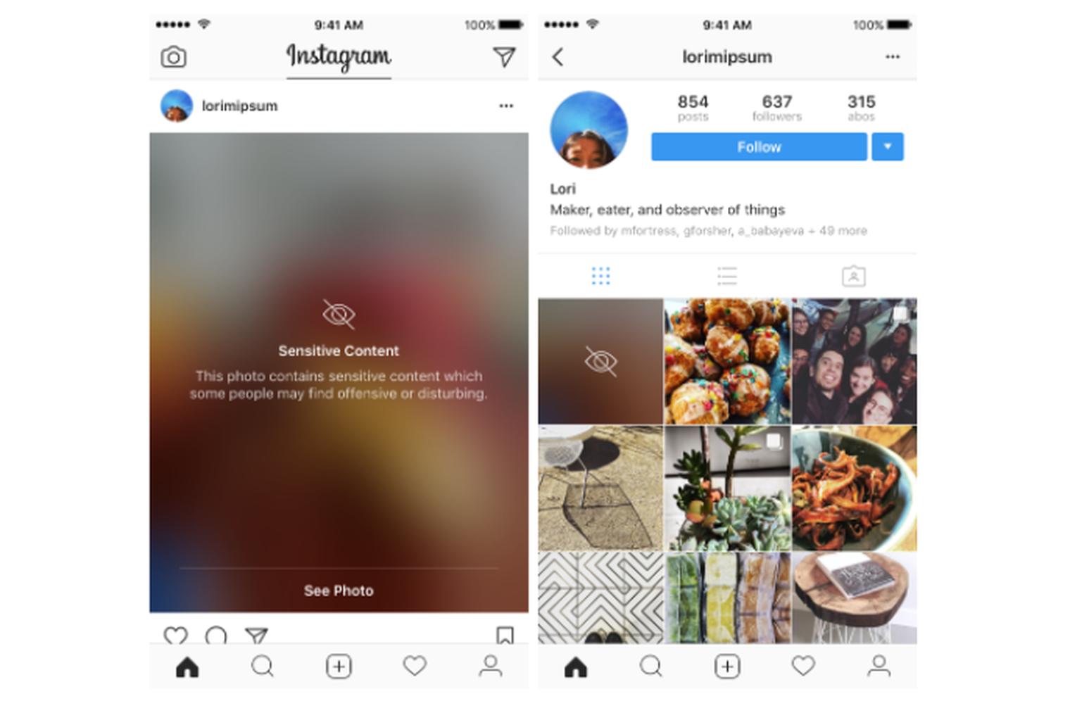 """Instagram будет """"замыливать"""" деликатные фото"""