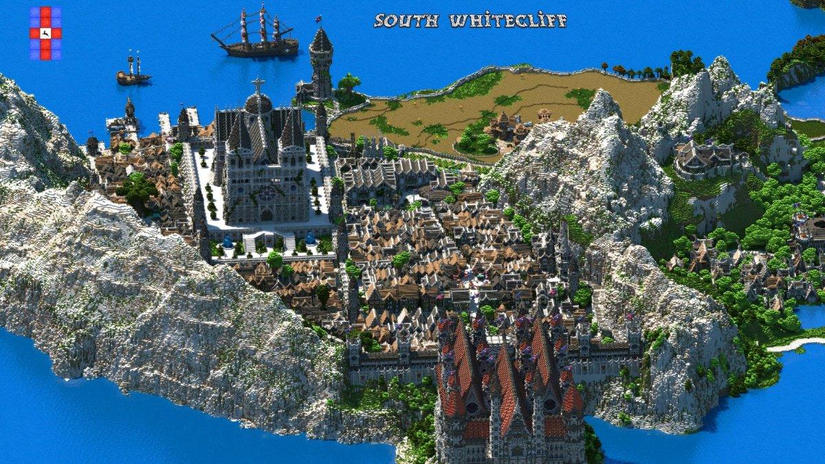 Парень потратил 5 лет, чтобы построить свое королевство в Minecraft. Масштабы впечатляют