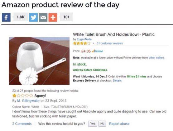 Отзыв о туалетном ёршике взбудоражил интернет
