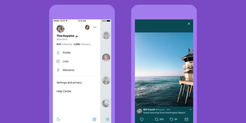 Бесплатное приложение соцсети Twitter получило крутой дизайн