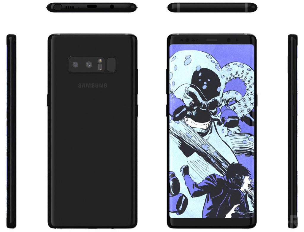 Samsung Galaxy Note 8 во всей красе