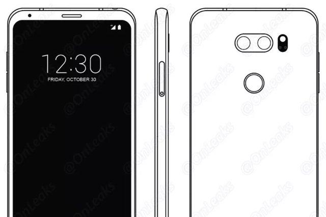 В сети появилось новое фото телефона LG V30