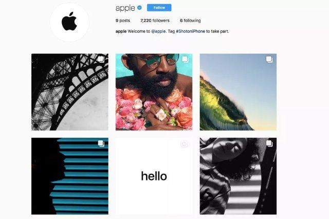 Apple запускает официальную учетную запись в Instagram, посвященную фотографиям