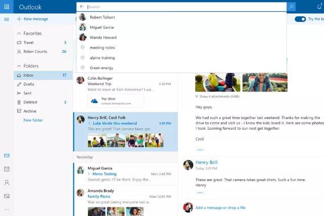 Новый дизайн Outlook от Microsoft включает лучший поиск и больше GIF-файлов