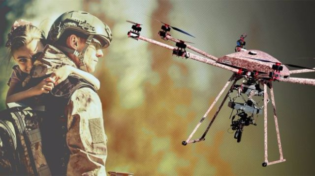 Американская фирма создала дрон, который может стрелять в воздухе