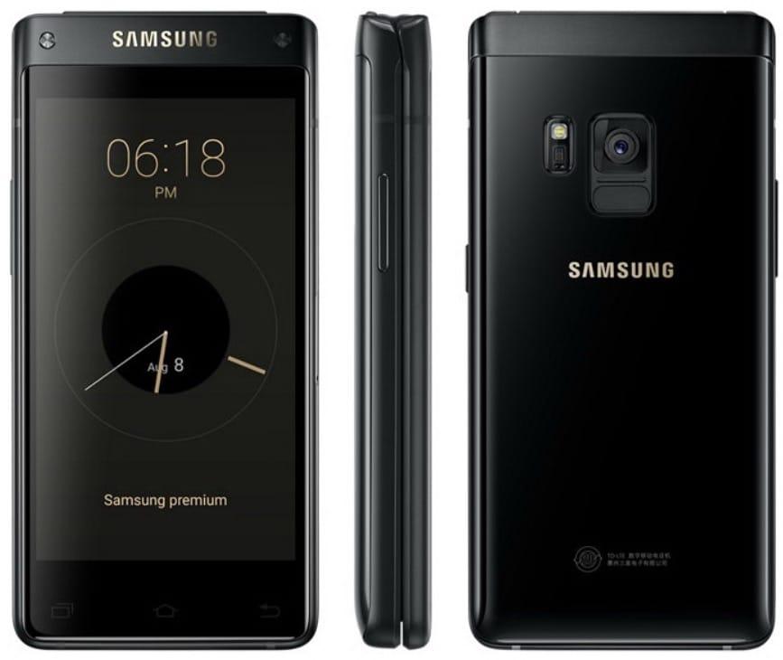 Очень дорогая и эксклюзивная раскладушка Samsung только для Китая