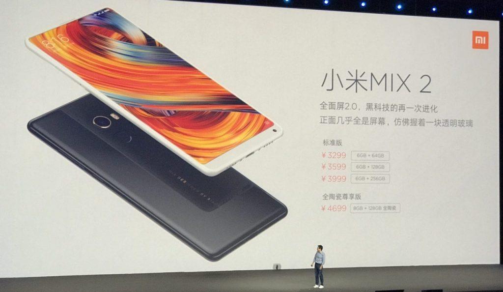 Xiaomi Mi Mix 2 — новое безрамочное чудо из Китая