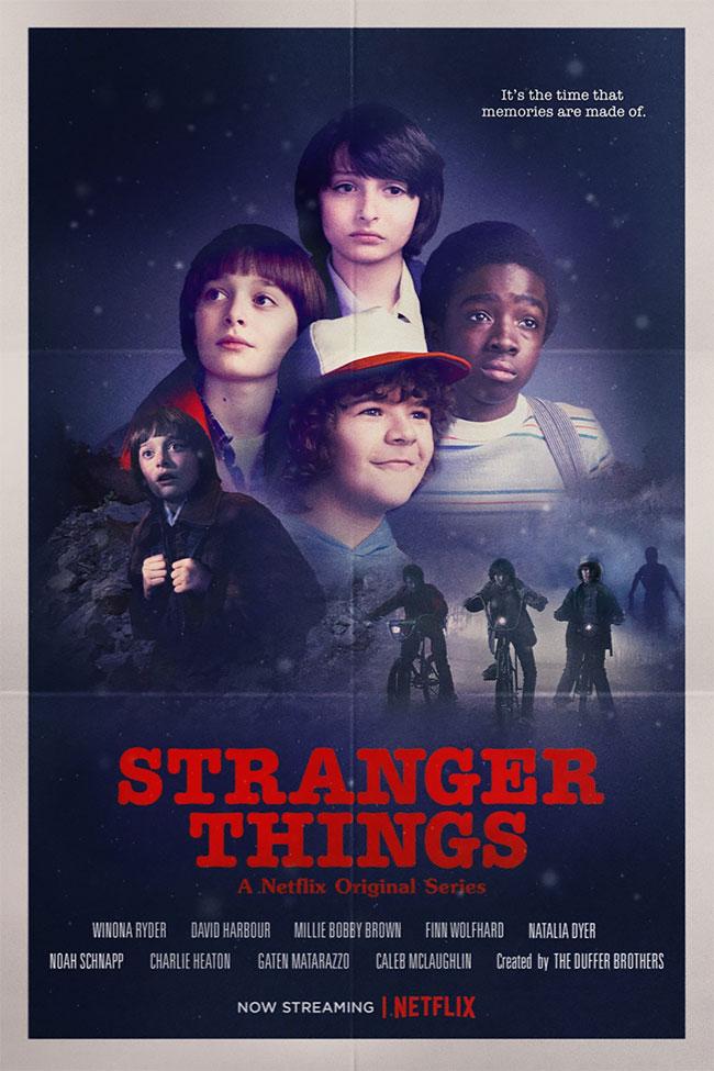 Вспомним фильмы восьмидесятых с постерами Stranger Things!