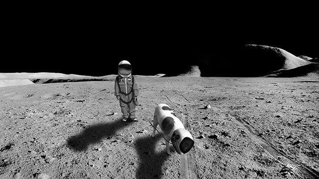 Мальчика в костюме астронавта фотошопят изо всех сил