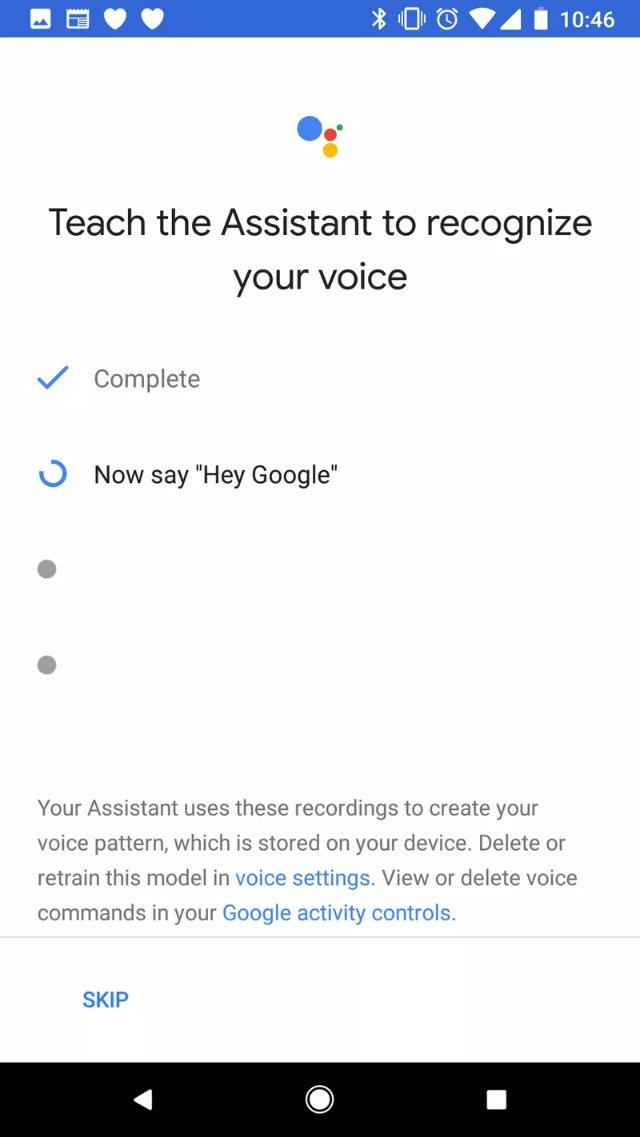 Google позволяет людям сказать «Эй, Google», чтобы активировать своего помощника на телефонах