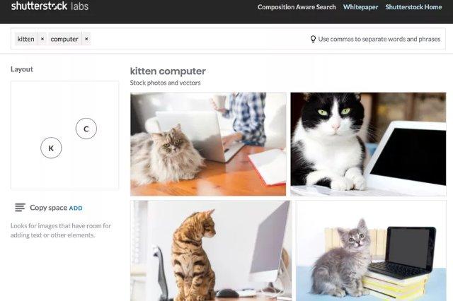 Shutterstock использует машинное обучение для поиска изображений по композициям