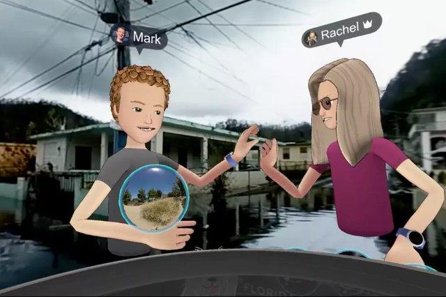 Анимационный Марк Цукерберг совершил поездку в Пуэрто-Рико с помощью виртуальной реальности