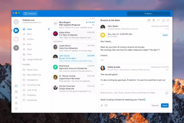 Microsoft улучшает дизайн Outlook для Mac и Windows