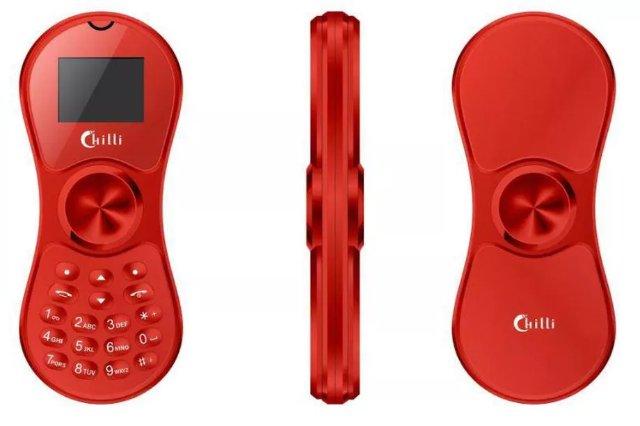 Этот крошечный мобильный телефон также является фиджет-спиннером