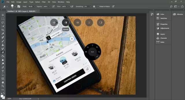 Adobe Photoshop теперь поддерживает Microsoft Surface Dial