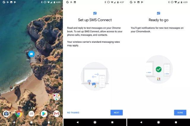 Android 8.1 позволяет отправлять и получать текстовые сообщения на устройствах Chromebook