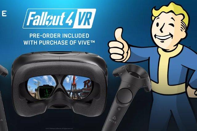 Новые покупатели HTC Vive получат бесплатный код предварительного заказа Fallout 4 VR