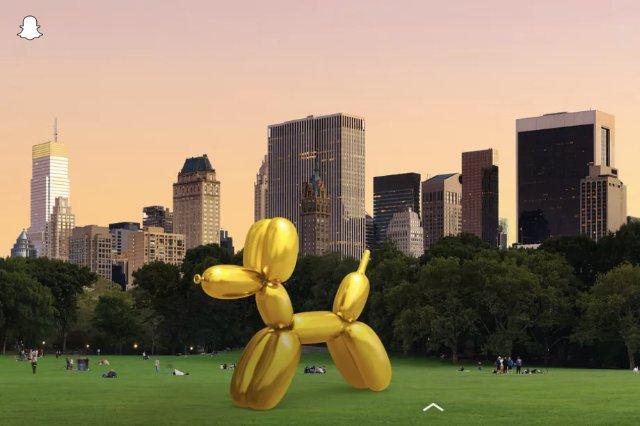Snapchat представит художественные инсталляции Джеффа Кунса в дополненной реальности