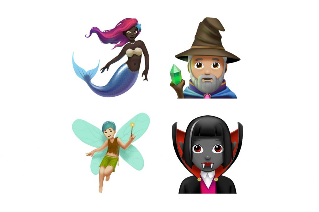 Новые эмодзи в iOS 11.1: спаржа, суши, палочки, скалолаз, санки и чернокожая русалка (о да!)