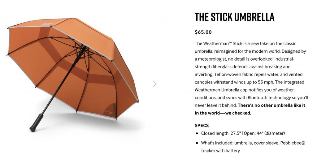 Зонтик для рассеянных не сломает даже шторм