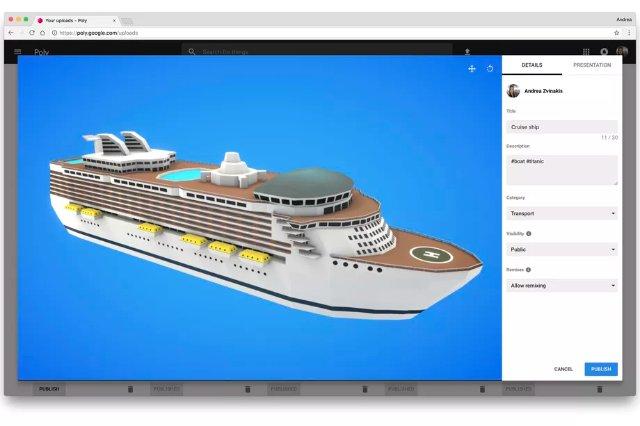 Google запускает библиотеку объектов AR и VR под названием Poly