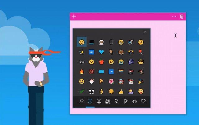 Клавиатура Windows 10 предлагает emoji в последнем предварительном просмотре