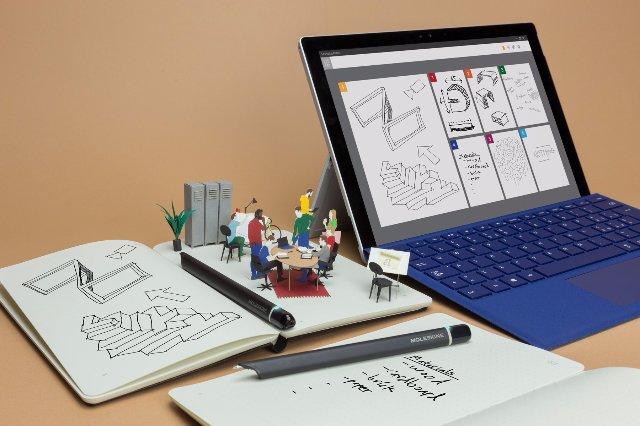 Moleskine смарт-блокнот будет работать с Microsoft Office