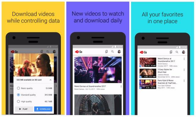 Легкое приложение YouTube Go от Google выходит из бета-версии