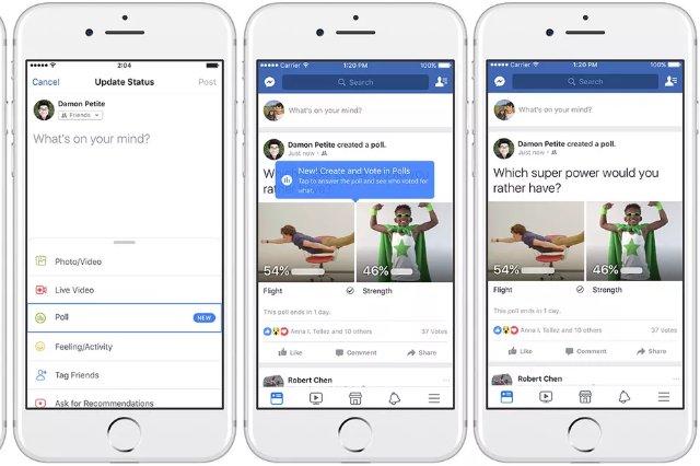 Facebook запускает функцию опросов, поддерживаемых GIF, как в Интернете, так и в мобильных приложениях