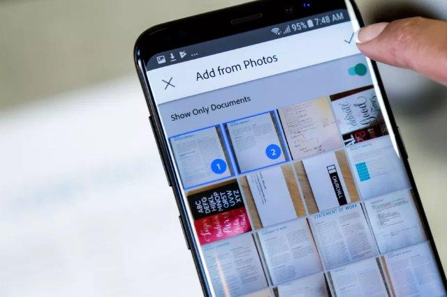 Adobe Scan теперь использует ИИ для обработки документов, визитных карточек и квитанций в вашей фотогалереи