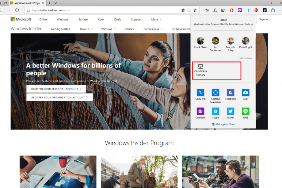 Windows 10 получит удобный аналог AirDrop