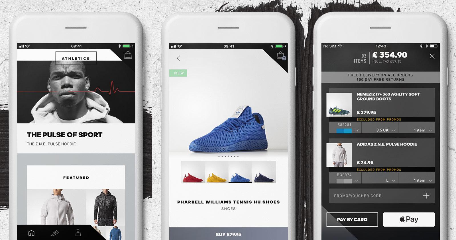Первое приложение Adidas для покупок - также персонализированная новостная лента