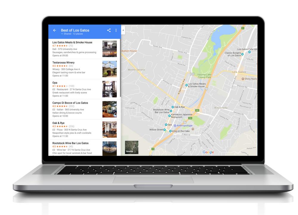 Теперь можно создавать и публиковать списки Карт Google в Интернете со своего рабочего стола