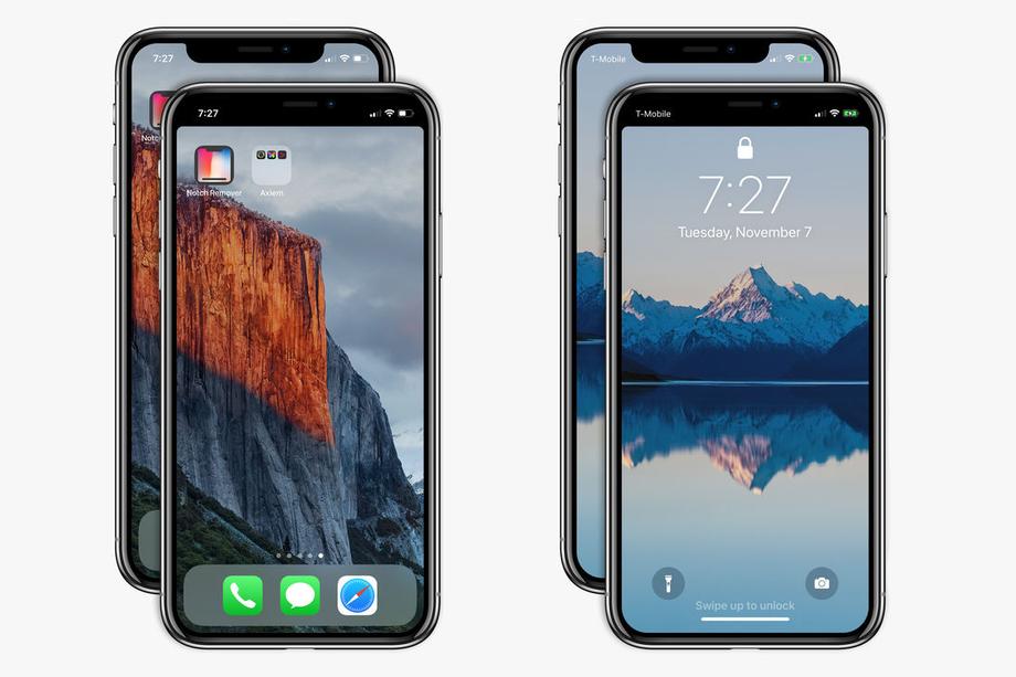 Приложение за $0.99 избавляет iPhone X от уродства