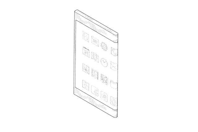 Последний патент Samsung показывает телефон с обтикаемым дисплеем