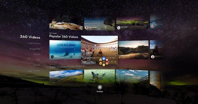 Facebook добавляет больше возможностей просмотра в свое приложение 360 для Gear VR