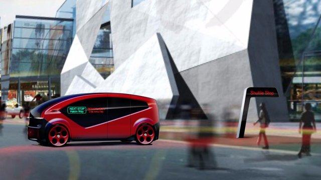 Fisker представляет самоходный челнок, построенный для умных городов