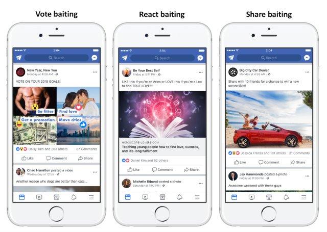 Facebook начнет понижать рейтинг страницам, использующим информацию как приманку