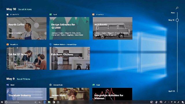 Windows 10 делает доступной для тестирования функцию Timeline