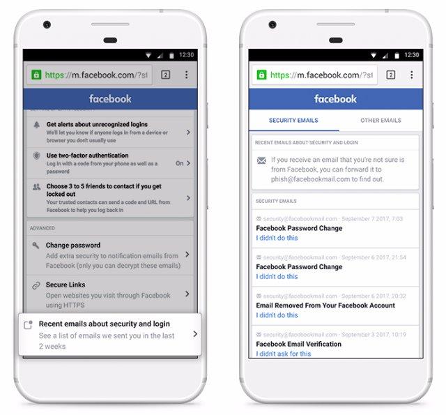 Facebook перечисляет все электронные адреса, с которых отправляет письма, для борьбы с фишингом