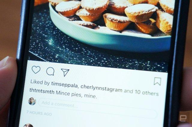 Instagram добавляет комментарии непосредственно из основной ленты