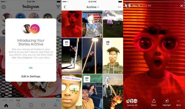 Instagram теперь может автоматически архивировать ваши Stories