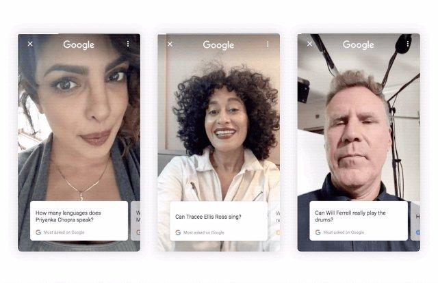 Google заставляет знаменитостей работать, отвечая на вопросы